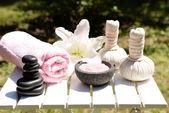 Naturläkemedel för massage — Stockfoto