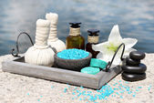 Herbal remedies for massage — Stock Photo