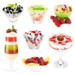 Fruit dessert collage — Stock Photo #49118823