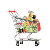 Full shopping trolley — Stock Photo