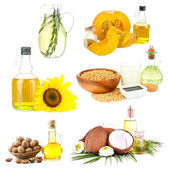 Oil collage, isolated on white — Stock Photo