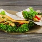 Veggie wrap — Stock Photo #49138039