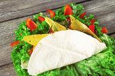 Veggie wrap with cheese — Stock Photo