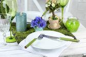 Trendy table setting — Stock Photo