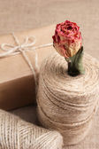 Handcrafted gift box — Stock Photo