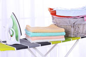 Basket with laundry — Stock Photo