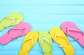 Bright flip flops — Photo