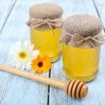 Fresh honey and flowers — Stock Photo #49142943