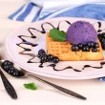Tasty belgian waffles — Stock Photo #49143255