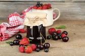Jam with berries — Stock Photo