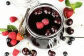 Tasty jam with berries — Stock Photo