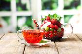 Fruit tea with berries — Stock Photo