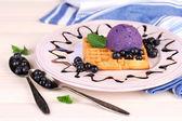 Tasty belgian waffles — Stock Photo