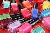 Group of bright nail polishes — Stock Photo