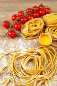 Raw homemade pasta — Stock Photo