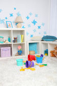 Toys in children room — Stock Photo