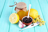 Folk remedies for colds — Stock Photo