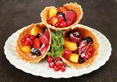 Postre de fruta fresca — Foto de Stock