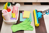 Cleaning products and tools — Stock Photo