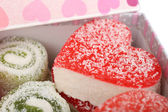 Turkish delight in present box — Stock Photo
