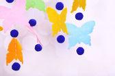 Handmade butterfly garland — Stock Photo