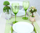 Trendy table setting in restaurant — Foto Stock