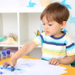Little boy playing in room — Stock Photo #49190253