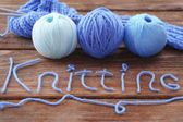 Yarns for knitting — Stock Photo