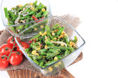Salad with green beans, ham and corn — Stock Photo