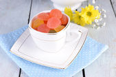 Jelly candies in cup — Stock Photo