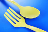 Plastic kitchen utensils — Stock Photo