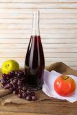 Beautiful still life with bottle of wine — Foto de Stock
