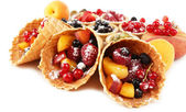 Postre de frutas frescas — Foto de Stock