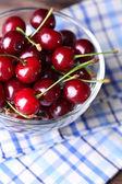 Cherries in bowl — Stock Photo