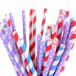 Colorful straws isolated on white — Stock Photo #49257225