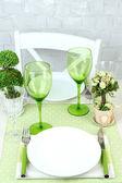 Modny tabeli Ustawienia w restauracji — Zdjęcie stockowe