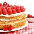 Tasty cake with fresh berries, close up — Stock Photo #49349395