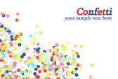 Confetti isolated on white — Stock fotografie