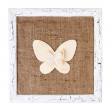 Wooden frame with paper butterfly isolated on white — Stock Photo #49350197