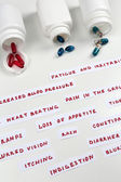 Prescription drug lottery, close-up — Stock fotografie