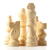 Piezas de ajedrez aislados en blanco — Foto de Stock