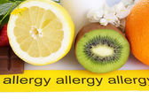 Allergenic food close-up — Stock Photo