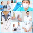 Medical workers collage — Stock Photo #49443847