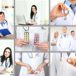 Medical workers collage — Stock Photo #49444121