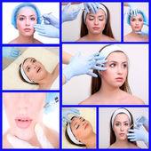 Plastic surgery collage — Stock Photo