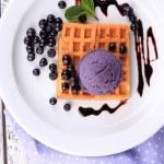 Tasty belgian waffles — Stock Photo #49455669