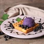 Tasty belgian waffles — Stock Photo #49455697
