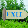 Exit sign at park — Stock Photo #49457007