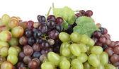 Uvas frescas, isolada no branco — Fotografia Stock