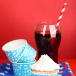 American patriotic holiday cupcake — Stock Photo #49498147